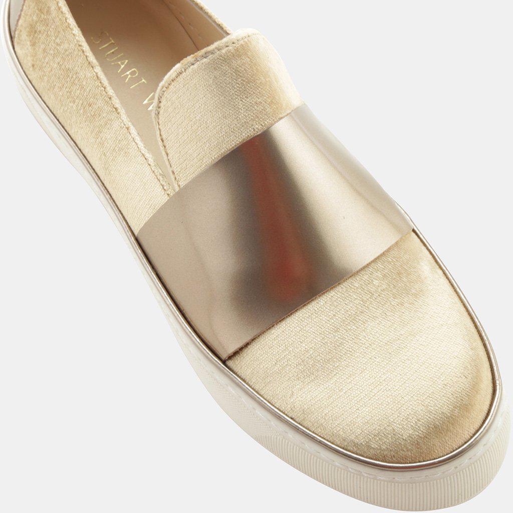 0c38d6dcf07 Stuart Weitzman - Multicolor Boyband Velvet Slip-on Sneaker - Lyst. View  fullscreen