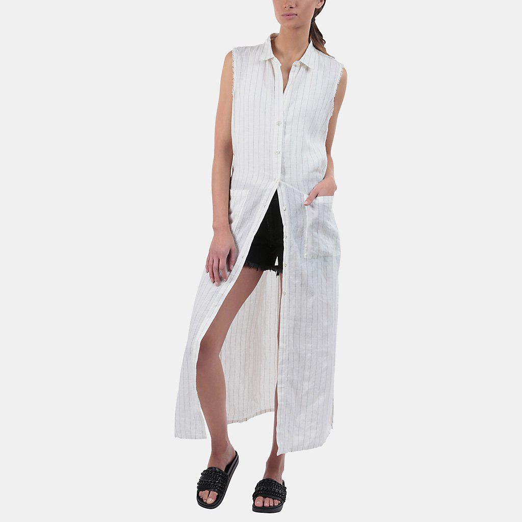 Lyst Frame Boyfriend Shirt Dress In White