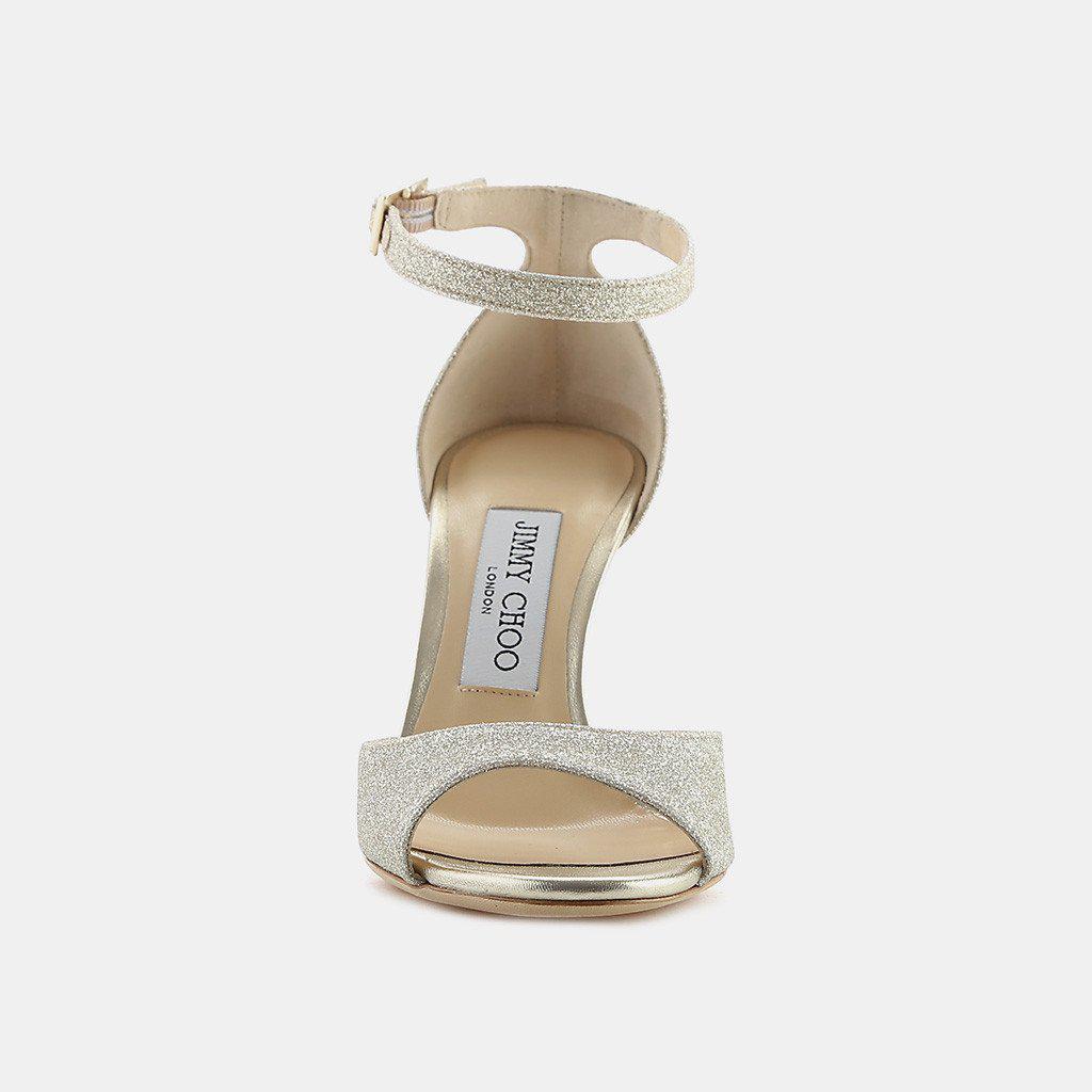 10b55df4a83 Jimmy Choo - Metallic Annie 85 Glitter Ankle-strap Sandal - Lyst. View  fullscreen