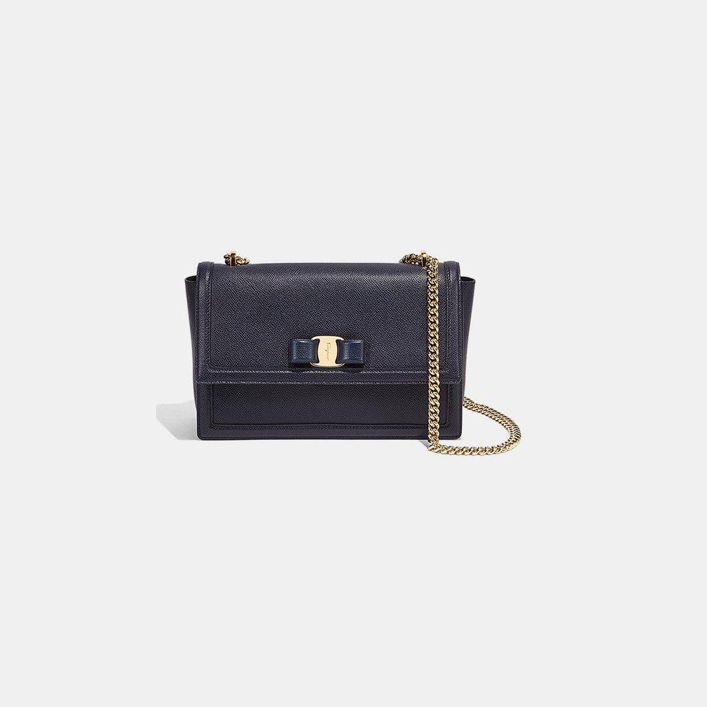 ace694c6c792 Lyst - Ferragamo Medium Ginny Shoulder in Blue