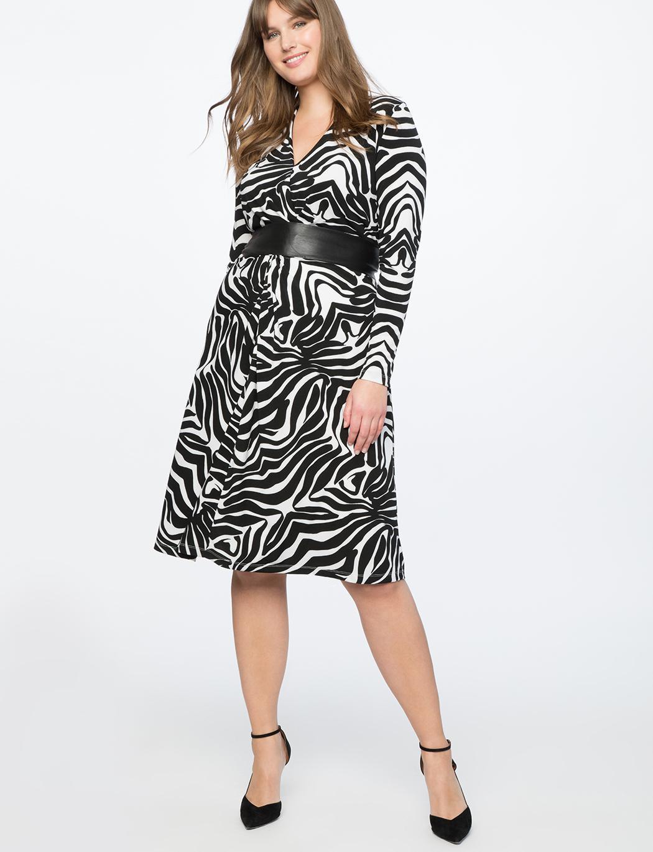 6e50d52fed8c0b Lyst - Eloquii Twist Front Printed Dress in Black