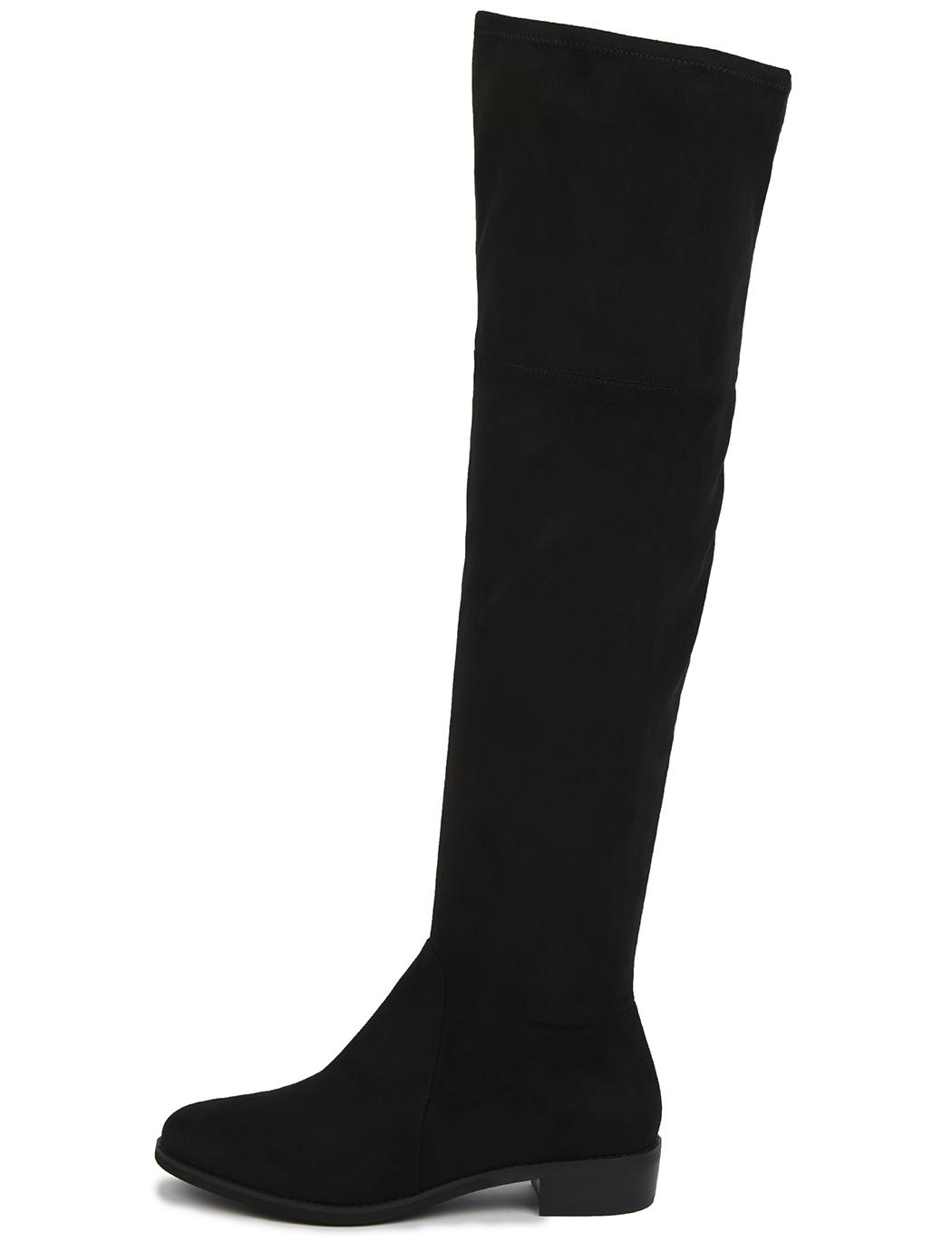 b37c0cbc9465e3 Lyst - Eloquii Fifi Flat Over The Knee Boot in Black