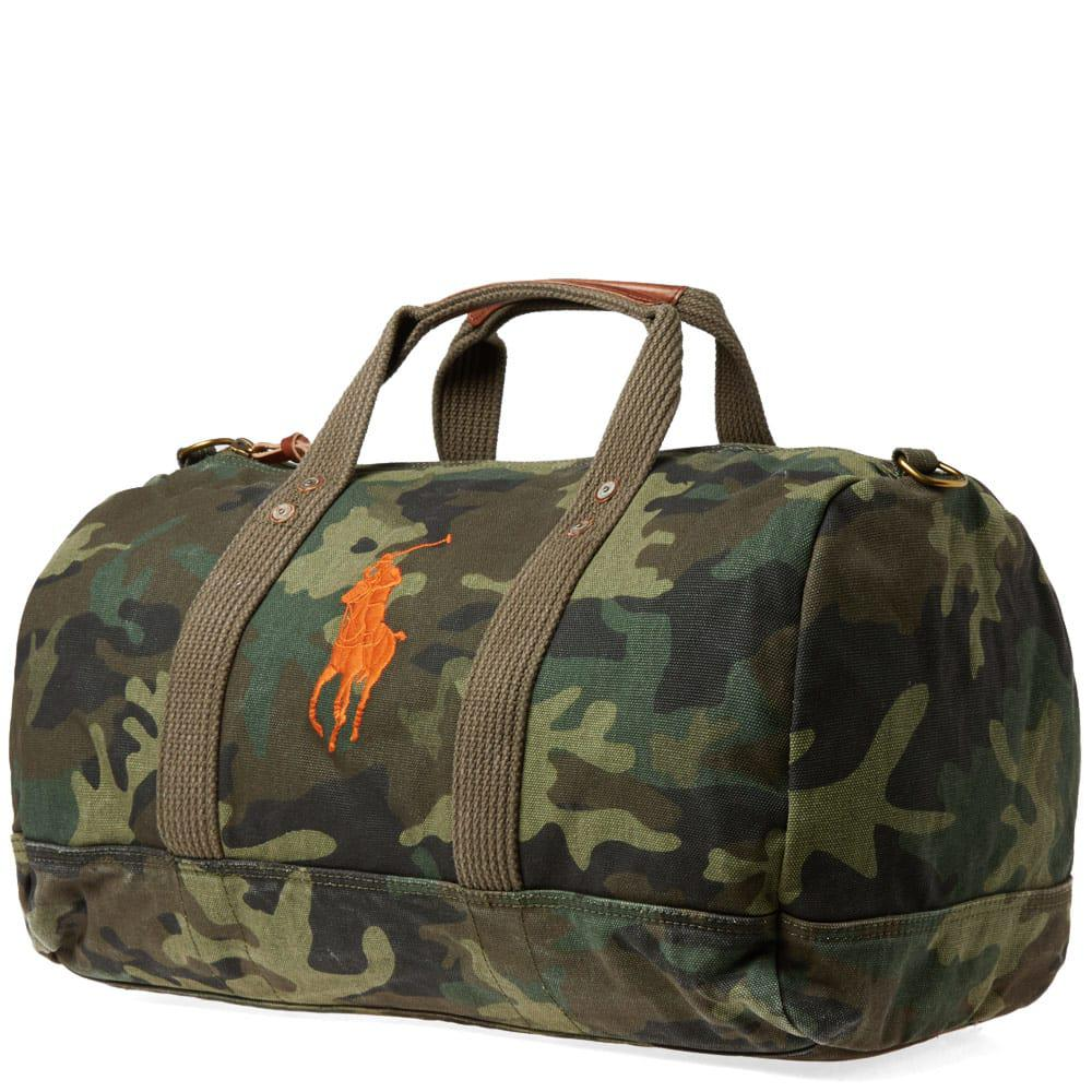 776b37f681a2 Polo Ralph Lauren Polo Player Canvas Duffle Bag in Green for Men - Lyst