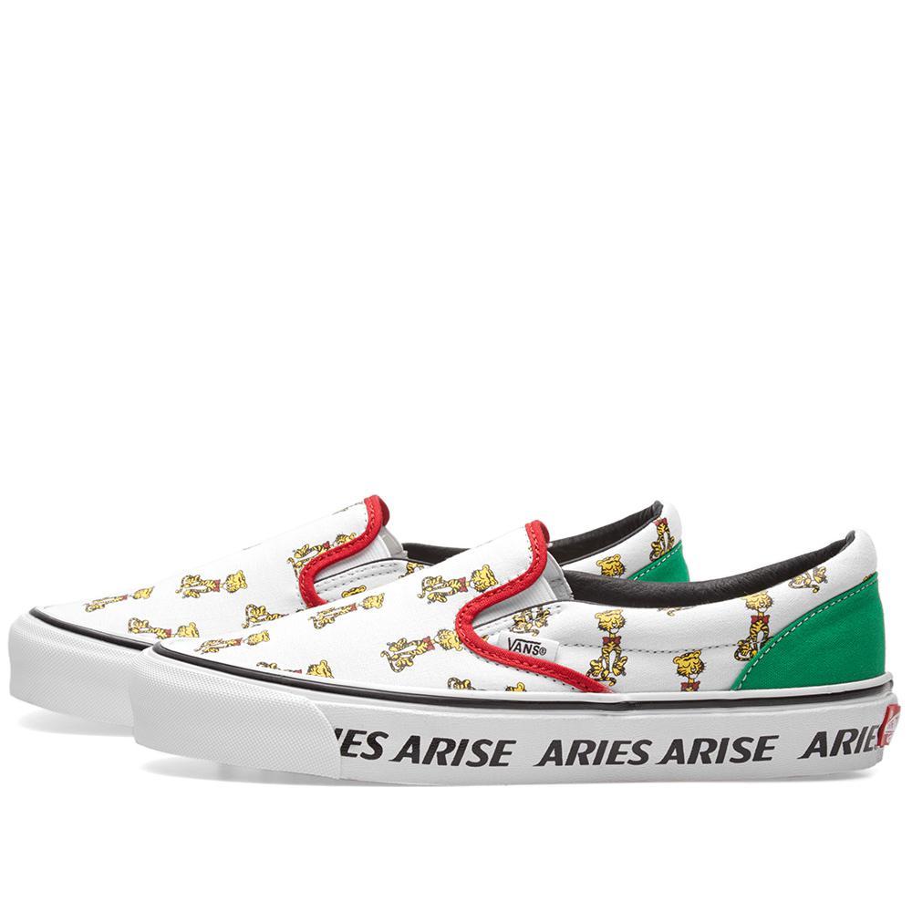 e209f394978235 Vans X Aries Og Classic Slip On in White for Men - Save 51% - Lyst
