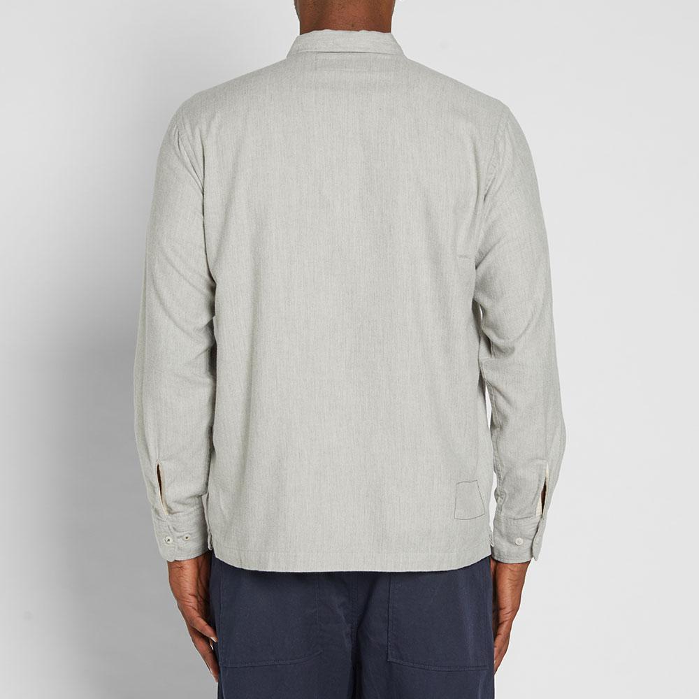 Universal Works Cotton Garage Shirt In Grey (Gray) For Men