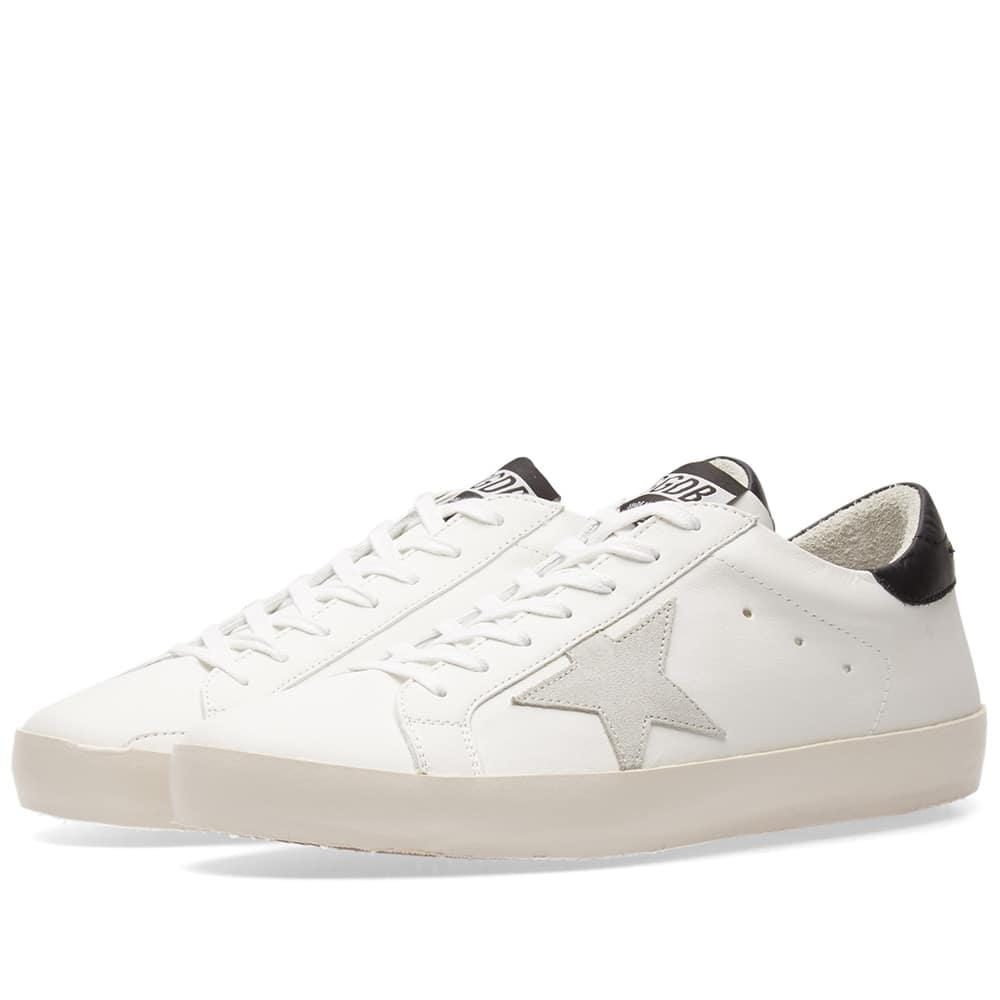 Golden Goose White & Grey Clean Superstar Sneakers obVY5FkYdn