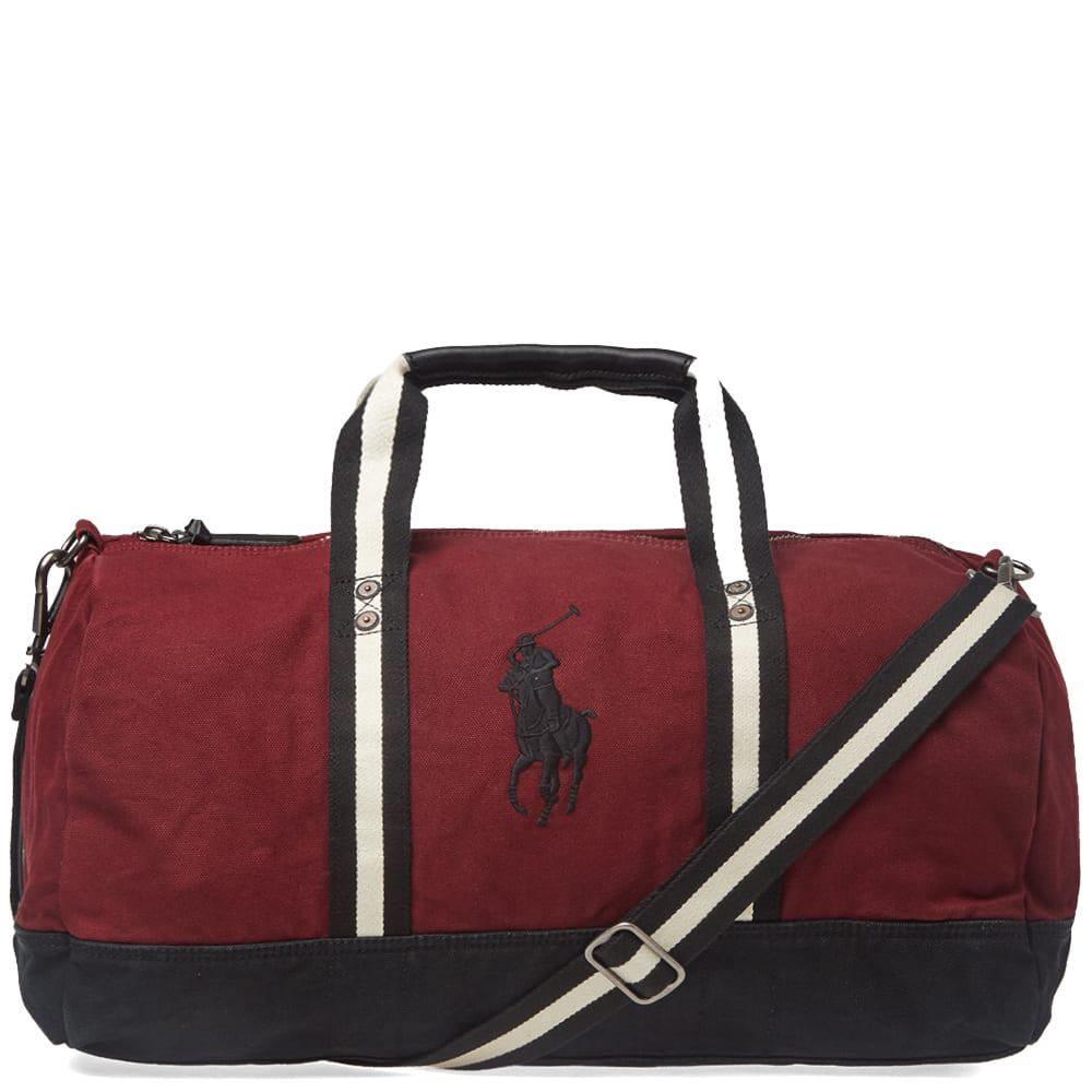 b41471b09c0c Polo Ralph Lauren Canvas Polo Player Logo Duffle Bag in Red for Men ...