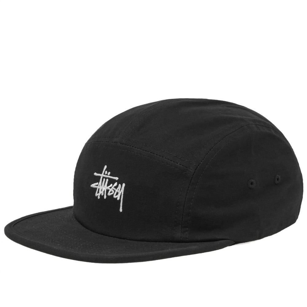 d757a04c362 Stussy Stock Herringbone Camp Cap in Black for Men - Lyst