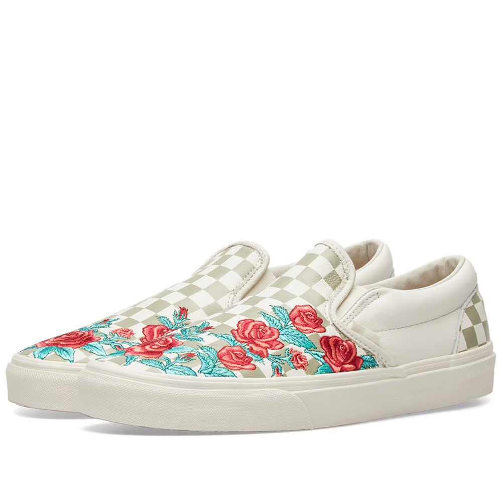 62d357cea75 Lyst - Vans Classic Slip On Dx Rose Embroidery for Men