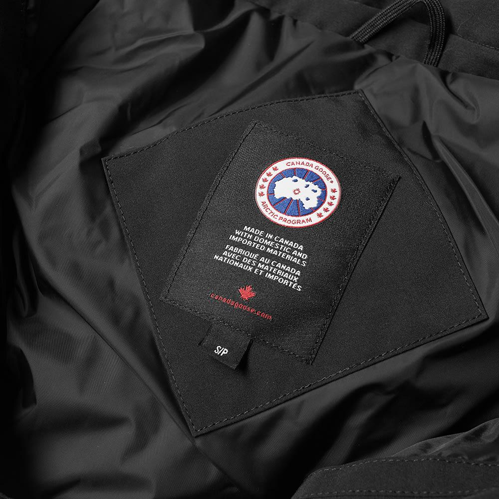 canada goose bromley aviator shearling collar down jacket