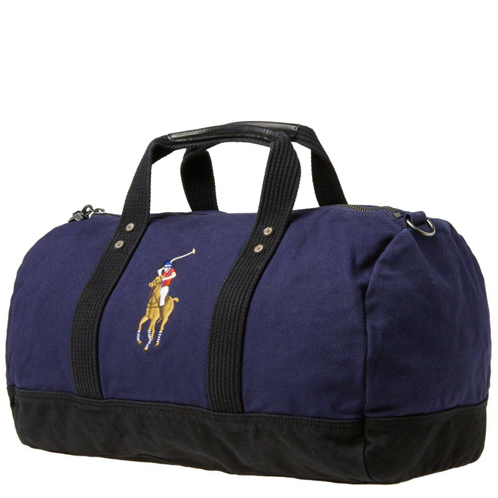 060a840e36 Polo Ralph Lauren - Blue Polo Player Canvas Duffle Bag for Men - Lyst. View  fullscreen