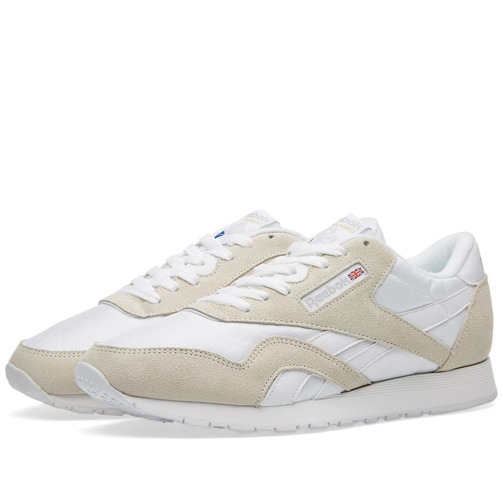 lyst reebok classic nylon og in white for men. Black Bedroom Furniture Sets. Home Design Ideas