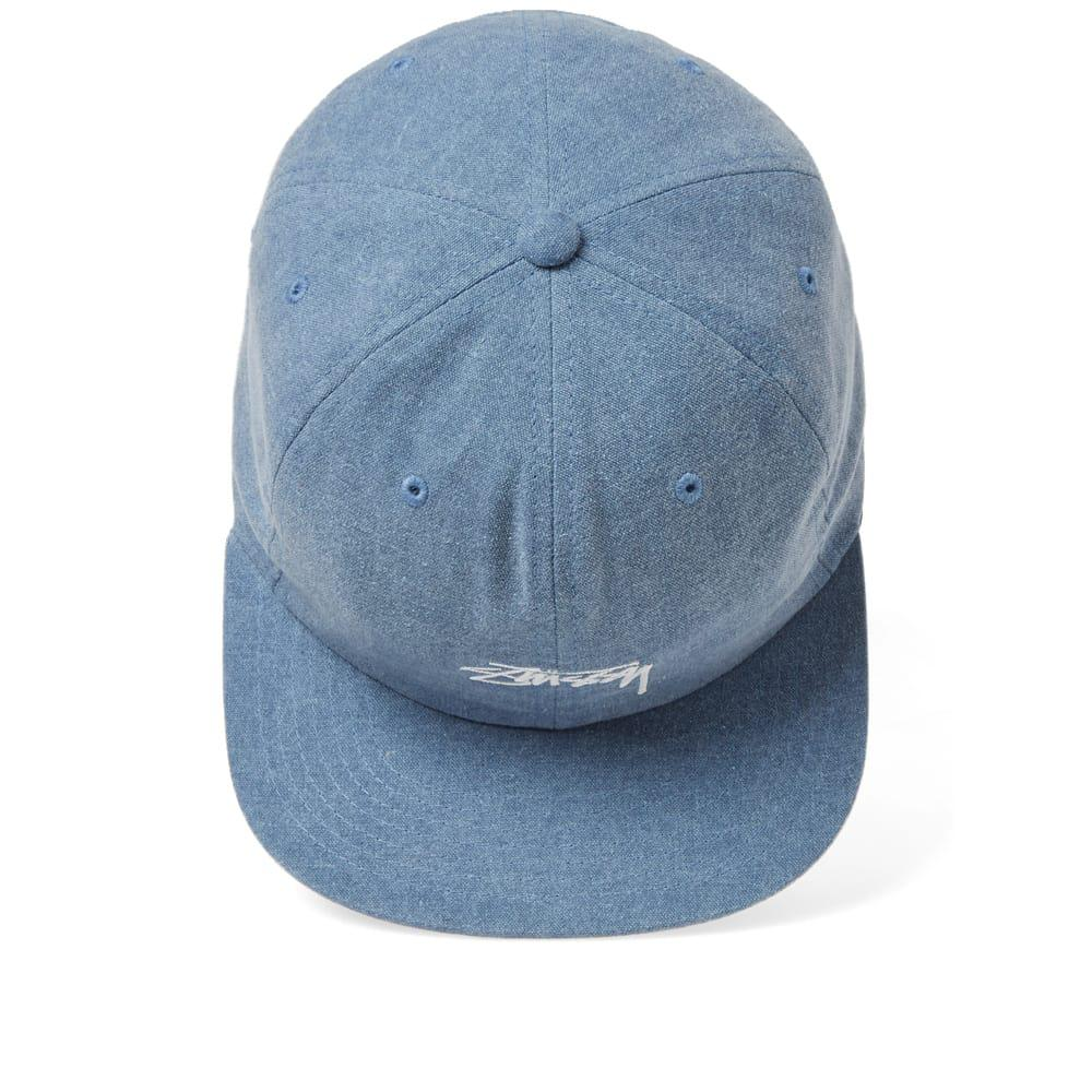 56df5d32d2e Lyst - Stussy Washed Oxford Canvas Cap in Blue for Men