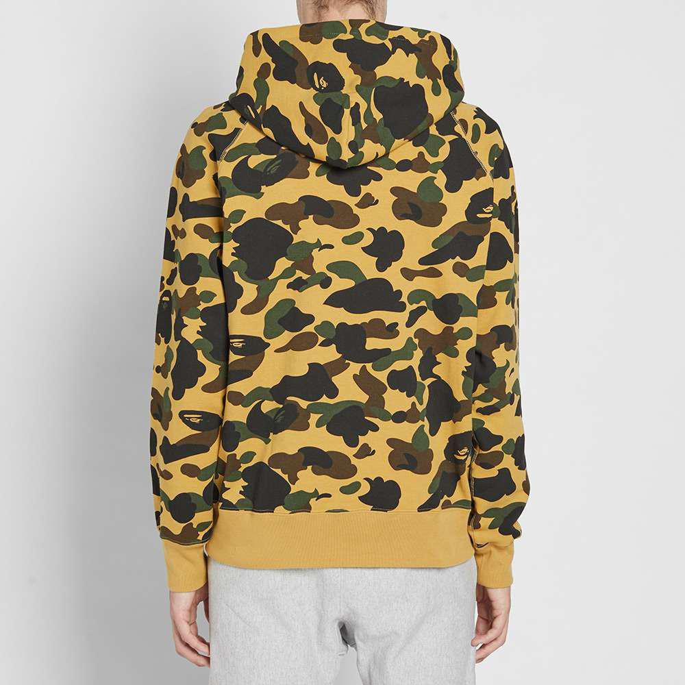 ce9c15dfa354 A Bathing Ape 1st Camo Nyc Pullover Hoody in Yellow for Men - Lyst