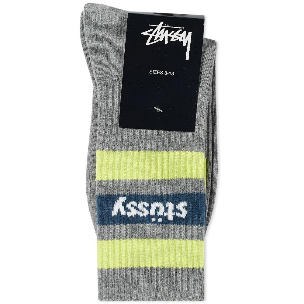 Lyst - Stussy Stripe Crew Sock in Gray for Men - Save 64% 7443621df3e9