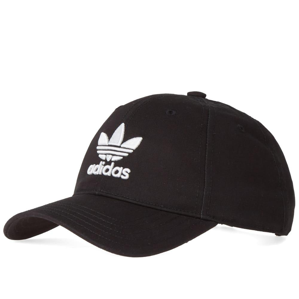 Adidas Trefoil Cap in Black for Men - Save 21.05263157894737% - Lyst e26d39429518