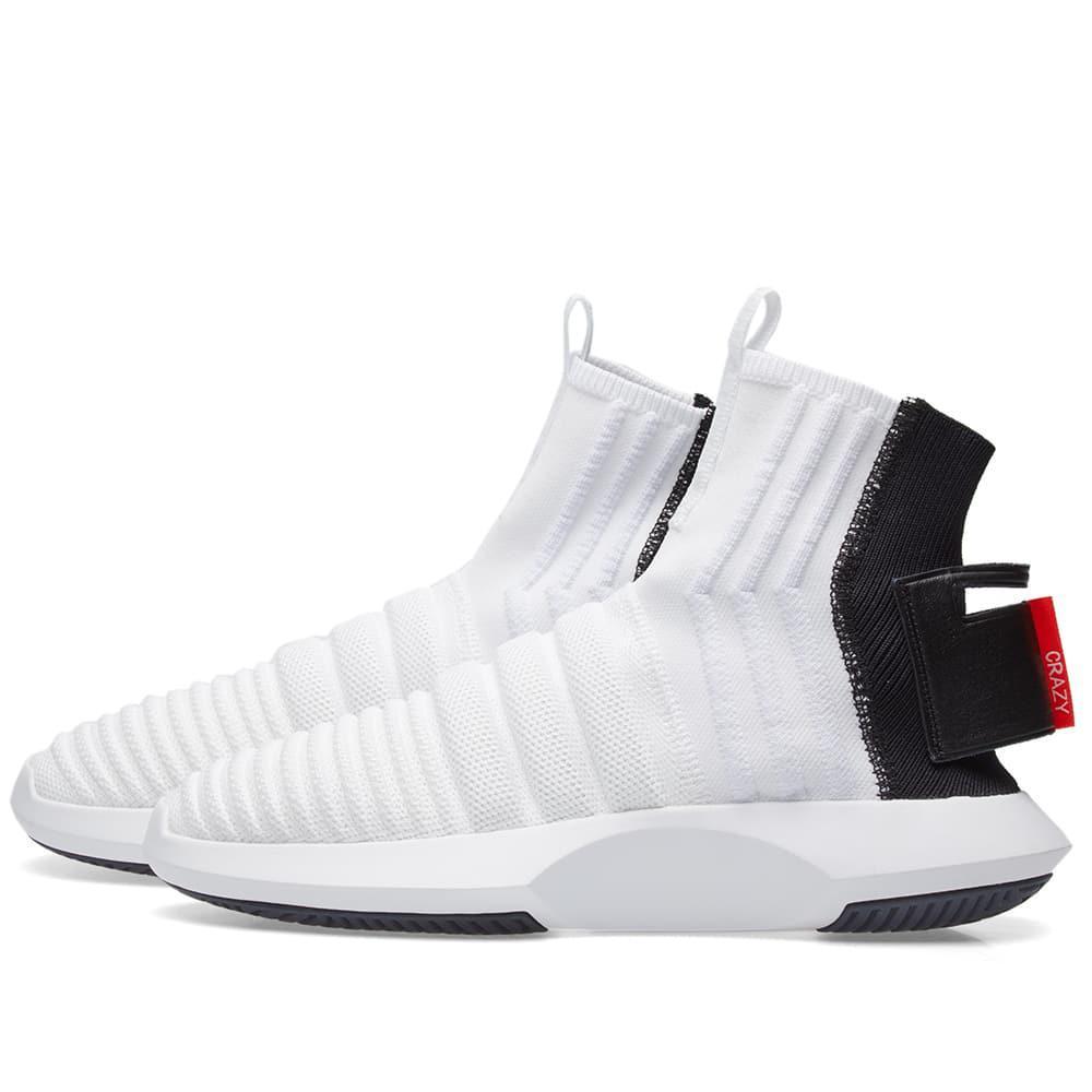 reputable site 84ec9 f9453 Adidas - White Crazy 1 Adv Sock Pk for Men - Lyst. View fullscreen