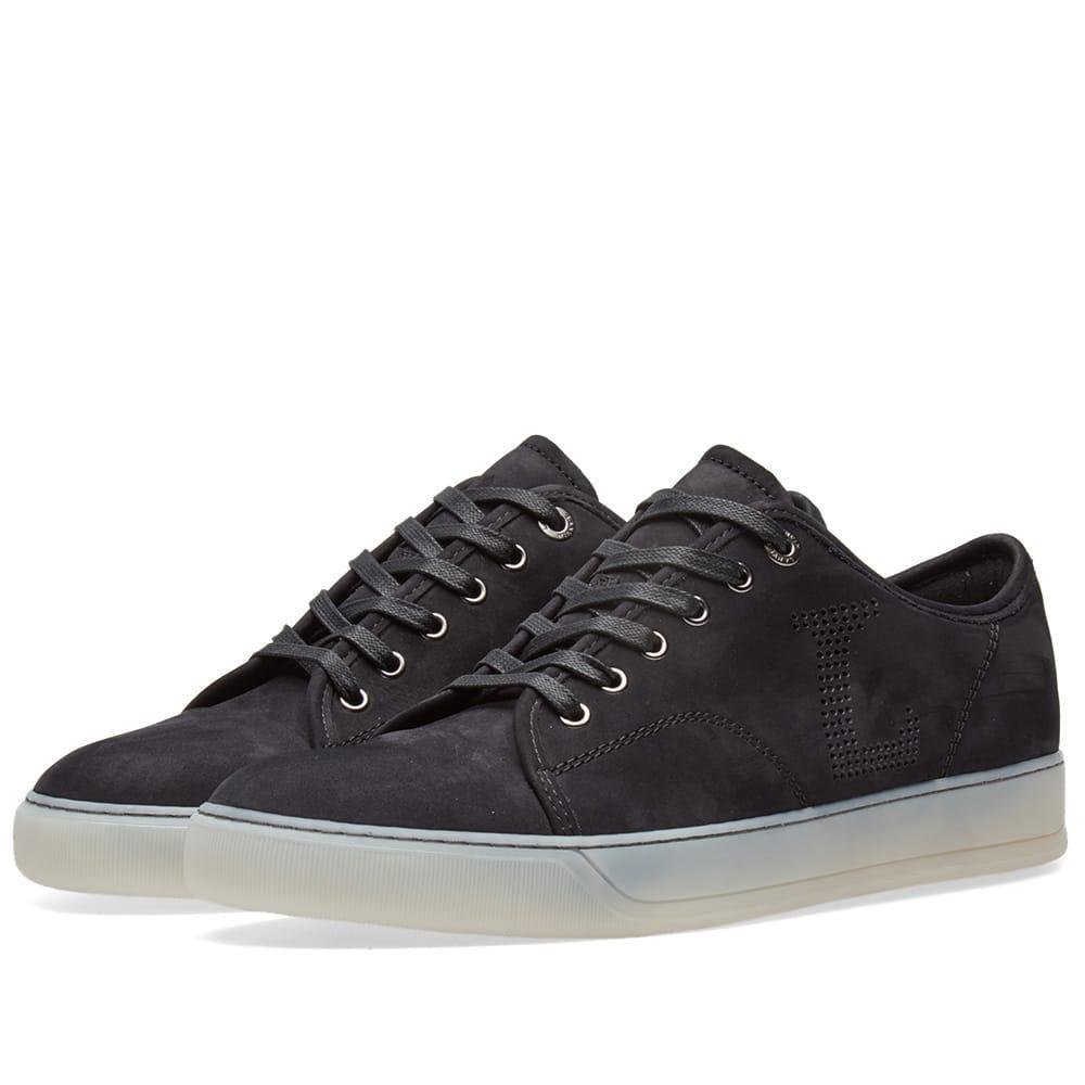 Lanvin Toe Cap Logo Sneaker in Black for Men - Lyst