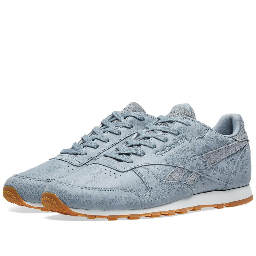 54cad0b01b8 Reebok Classic Leather  clean Exotics  W in Gray for Men - Lyst