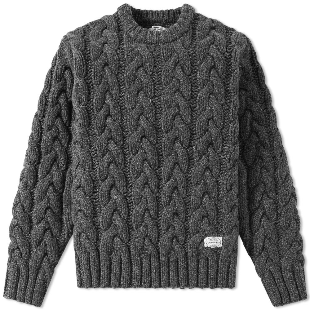 Neighborhood Fisherman Cable Knit in Gray for Men   Lyst