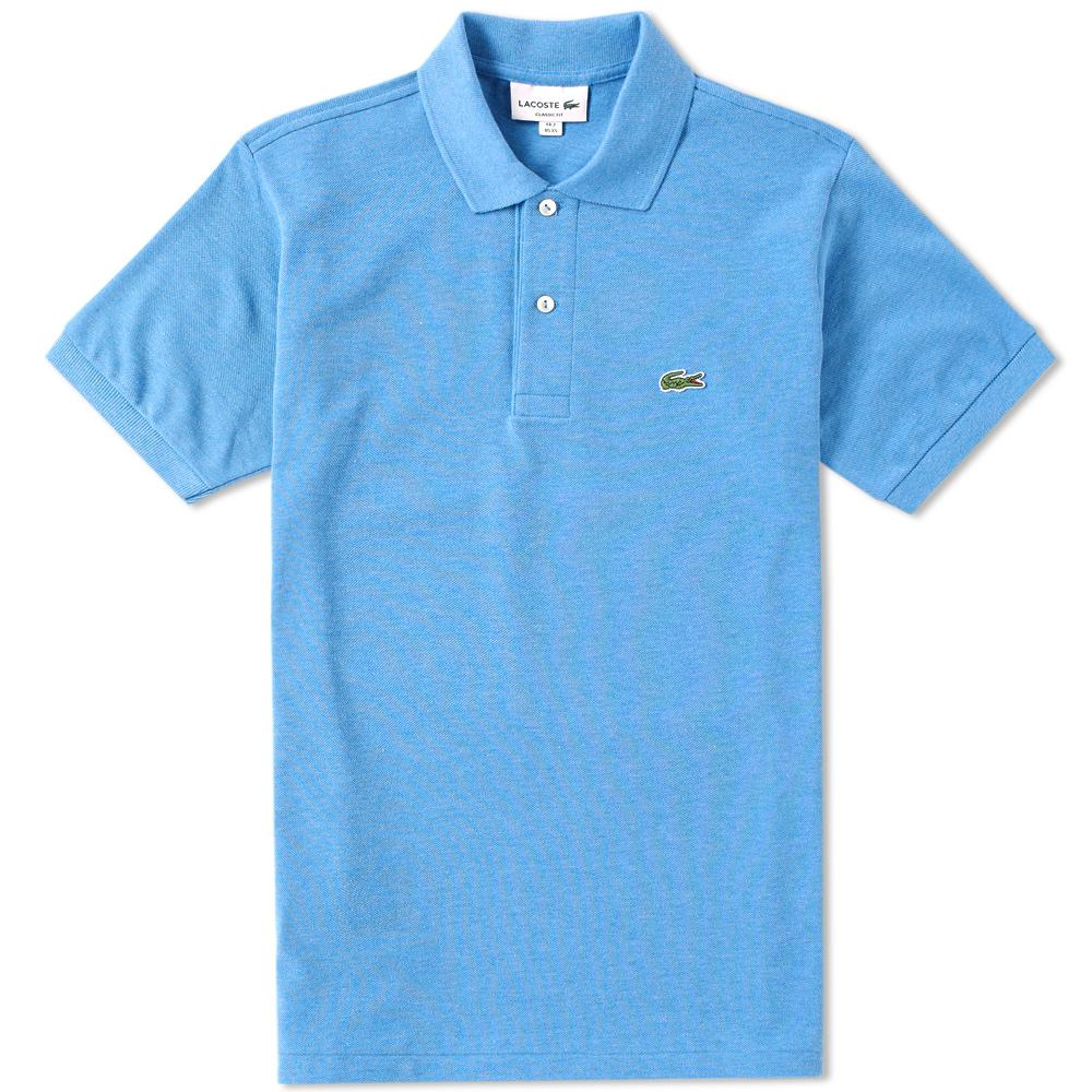 62f3fe51 Lyst - Lacoste Original Fit Marl Polo in Blue for Men