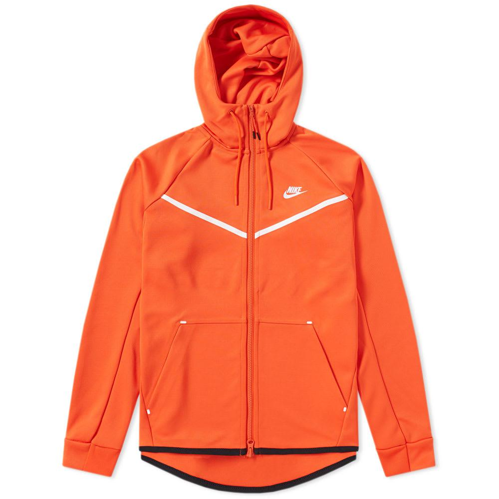 f4fc6d90624c Lyst - Nike Tech Fleece Hoody in Orange for Men