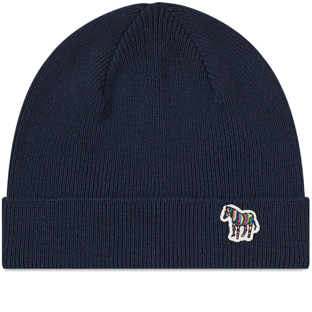 b21101493 Men's Blue Zebra Beanie Hat