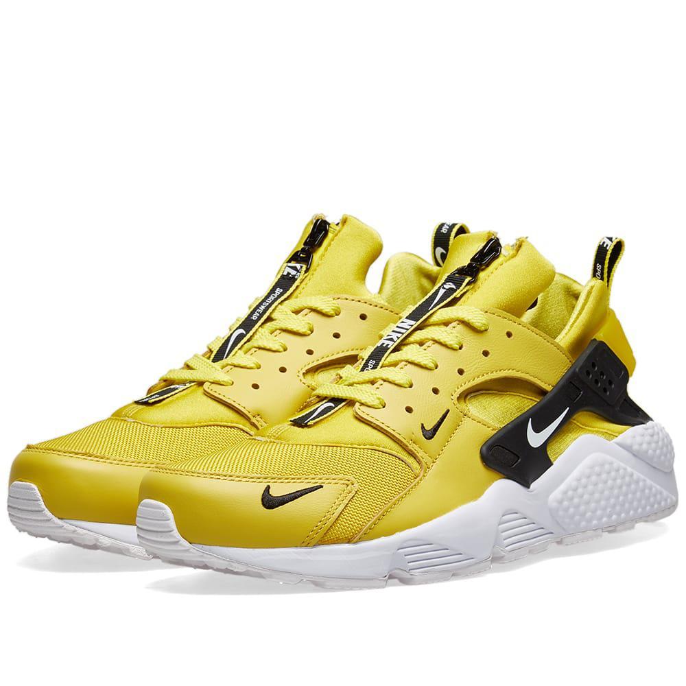 68d365047d97 Lyst - Nike Air Huarache Run Premium Zip in Yellow for Men - Save 38%