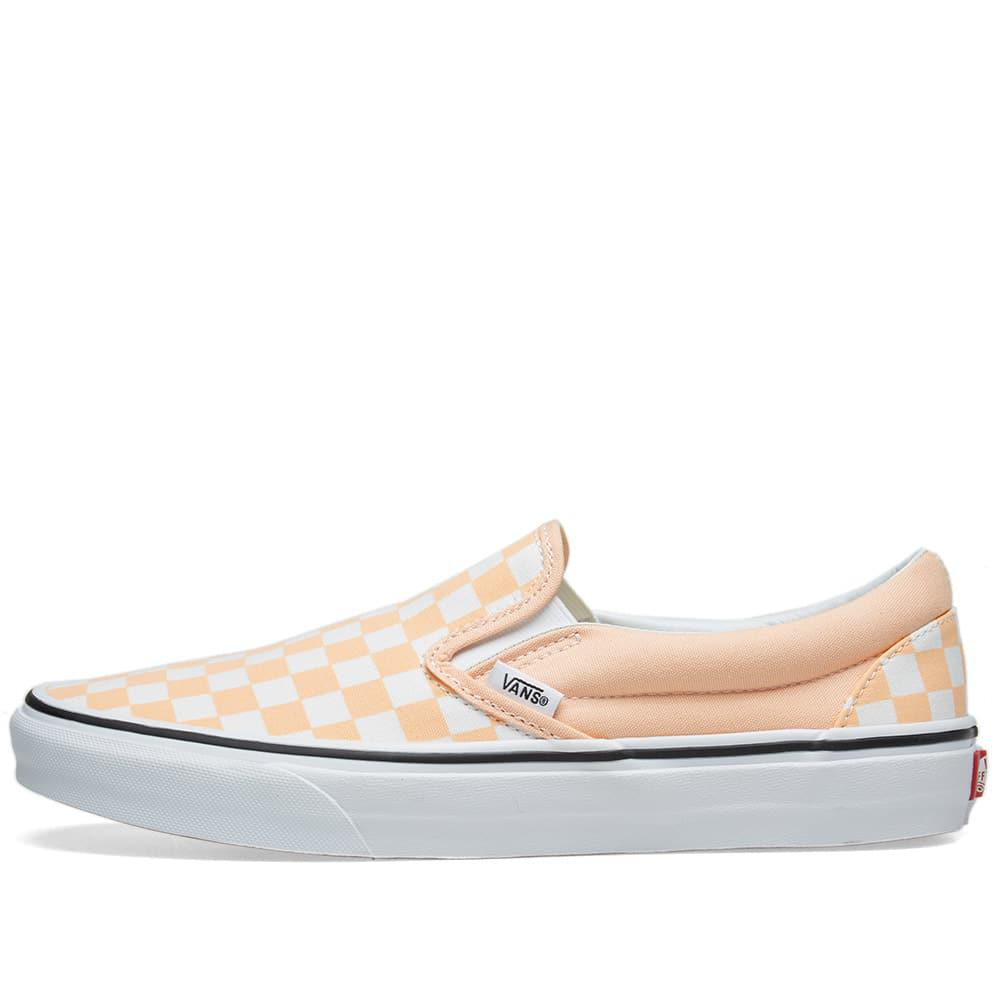 Vans - Orange Classic Slip On Checkerboard for Men - Lyst. View fullscreen 4ffcd2b28