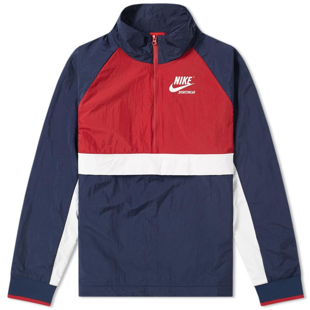 9f9a2175bfb08 Nike Half Zip Archive Jacket in Blue for Men - Lyst