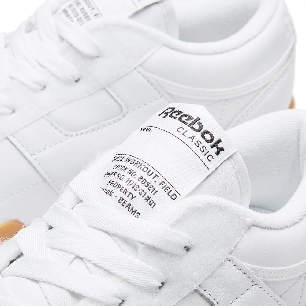 b3a8f09962a Reebok X Beams Workout Clean Low in White for Men - Lyst