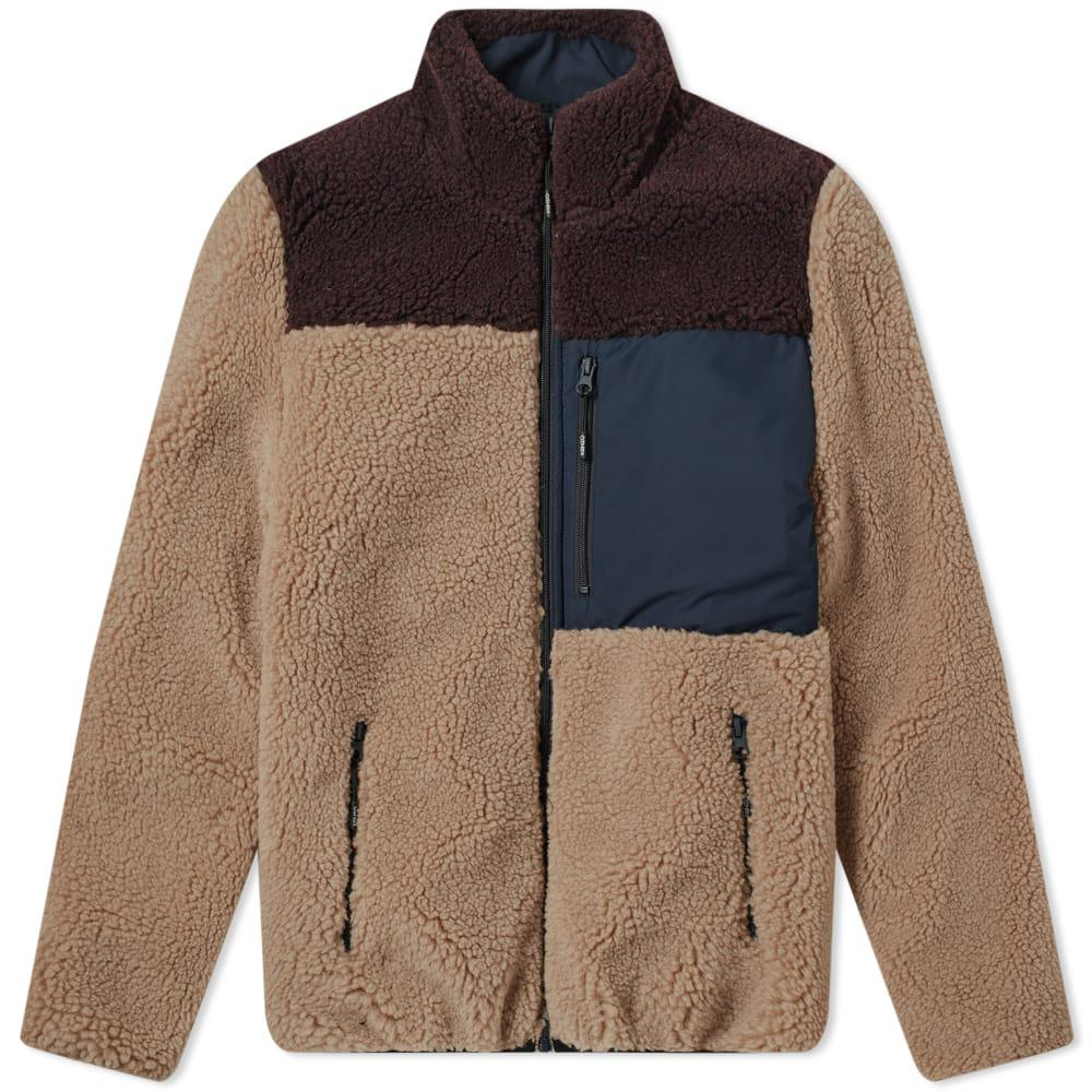 5cdb50afae3a KENZO Shearling Down Jacket in Brown for Men - Lyst