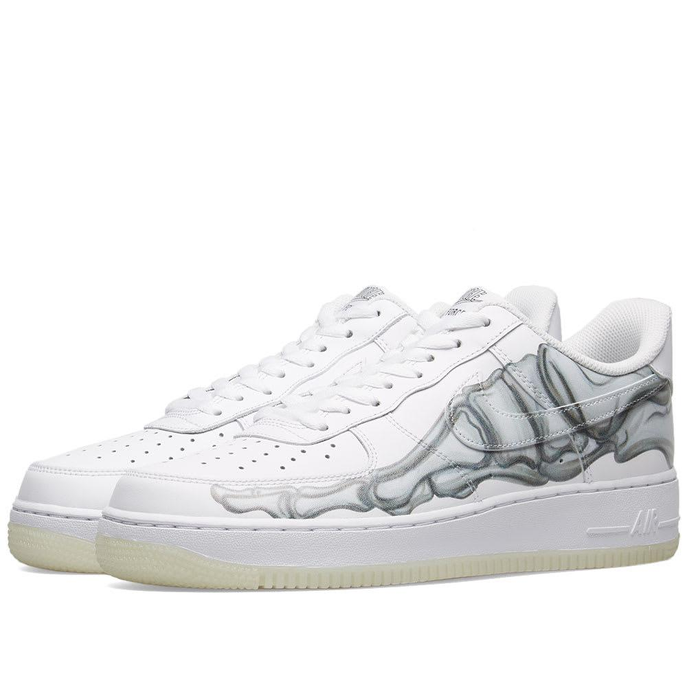 meet 423a1 fc721 Nike Air Force 1  07 Skeleton Qs Sneakers in White for Men - Lyst