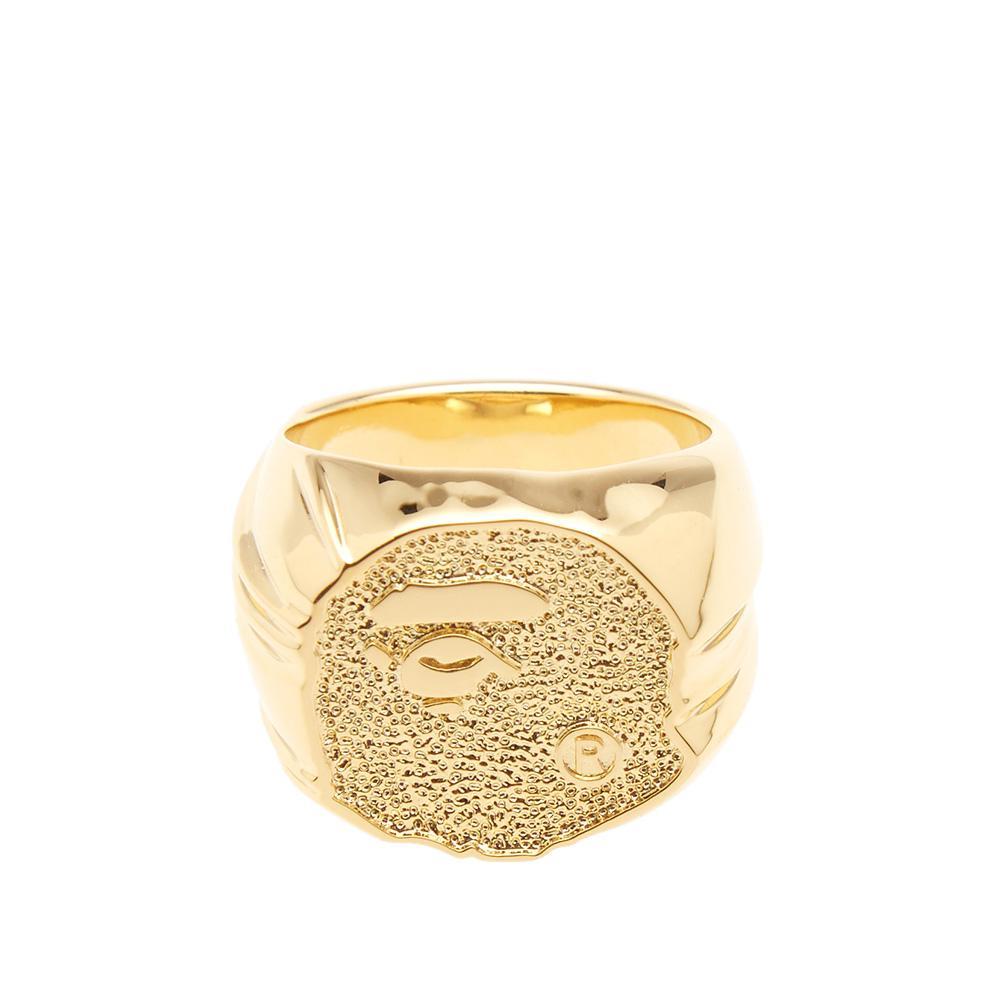Lyst - A Bathing Ape Bape Face Ring in Metallic