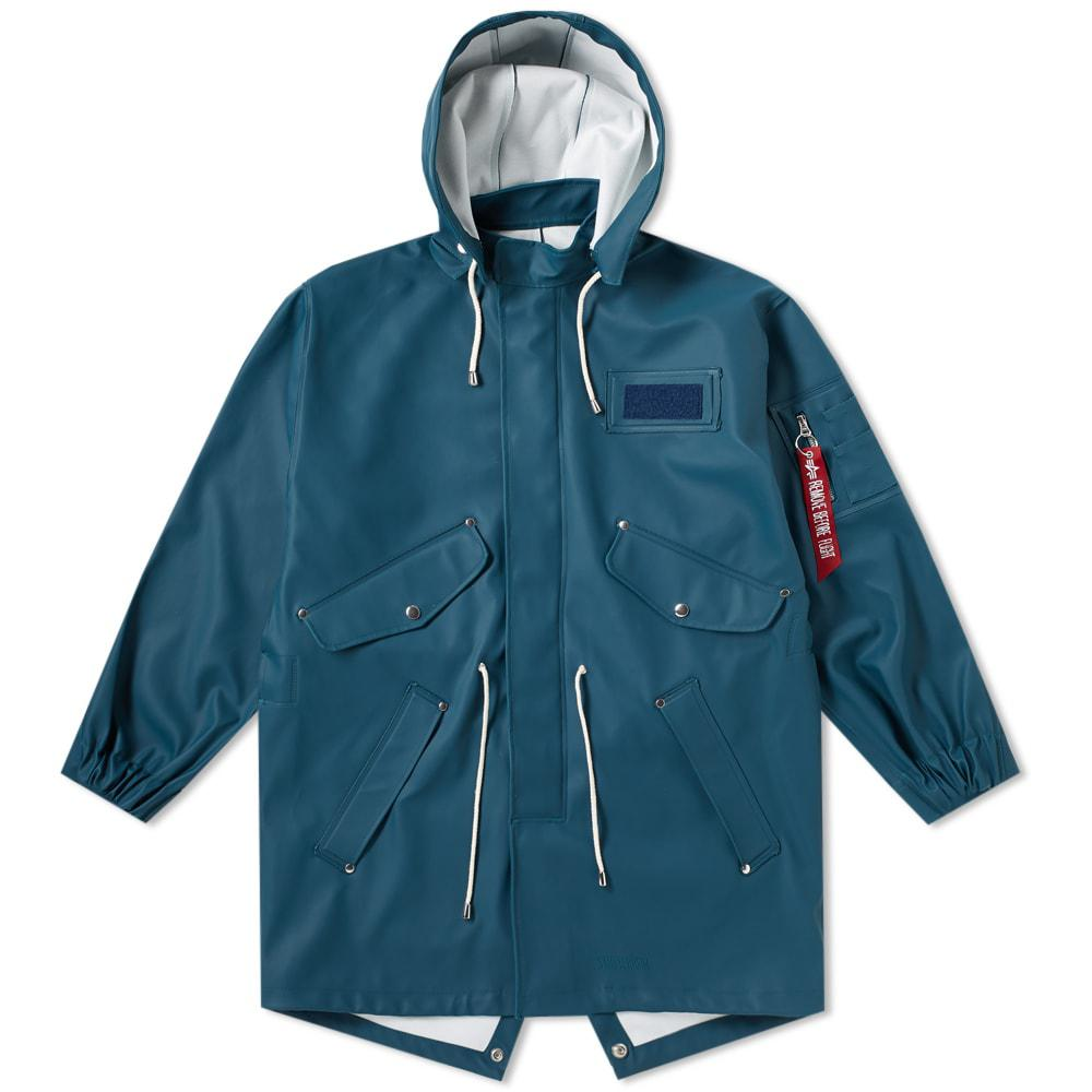 lyst stutterheim x alpha industries m65 fishtail jacket. Black Bedroom Furniture Sets. Home Design Ideas