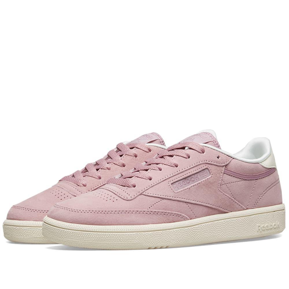 62c53675b69 Lyst - Reebok Club C 85 Suede W in Pink