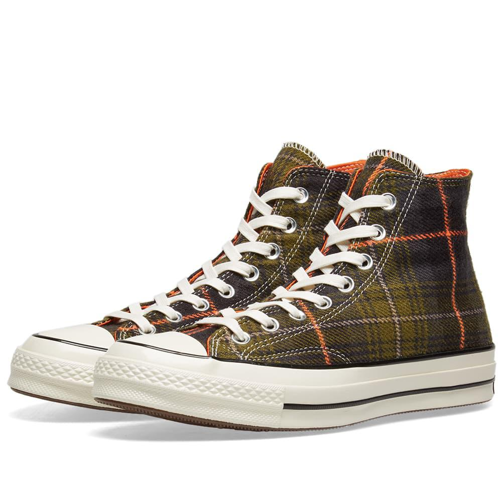 4495b81c8e4b Converse Chuck Taylor 1970s Hi Luxury Plaid in Green for Men - Lyst