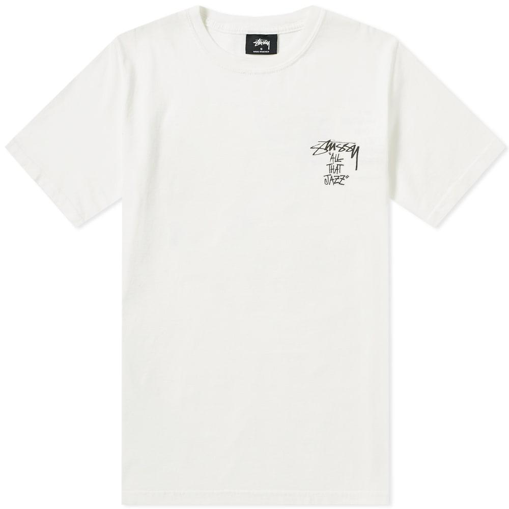 284a3d147 Stussy All That Jazz Pigment Dyed Tee in White for Men - Lyst