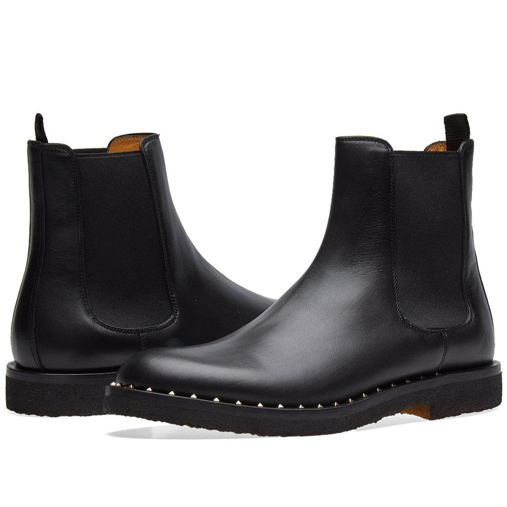 715b56d06 Valentino Stud Sole Chelsea Boot in Black for Men - Lyst