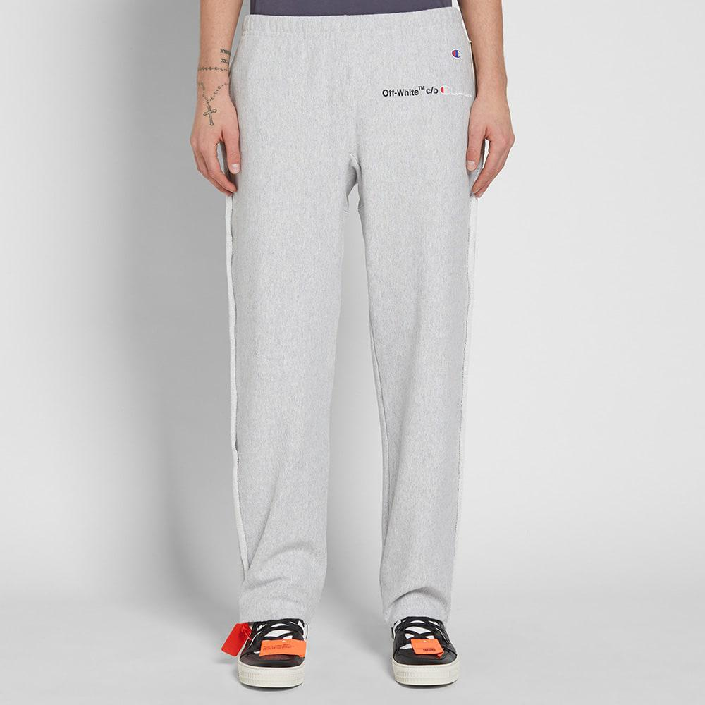 25bdb7f9bc02ed Off-White c/o Virgil Abloh X Champion Sweat Pant in Gray for Men - Lyst