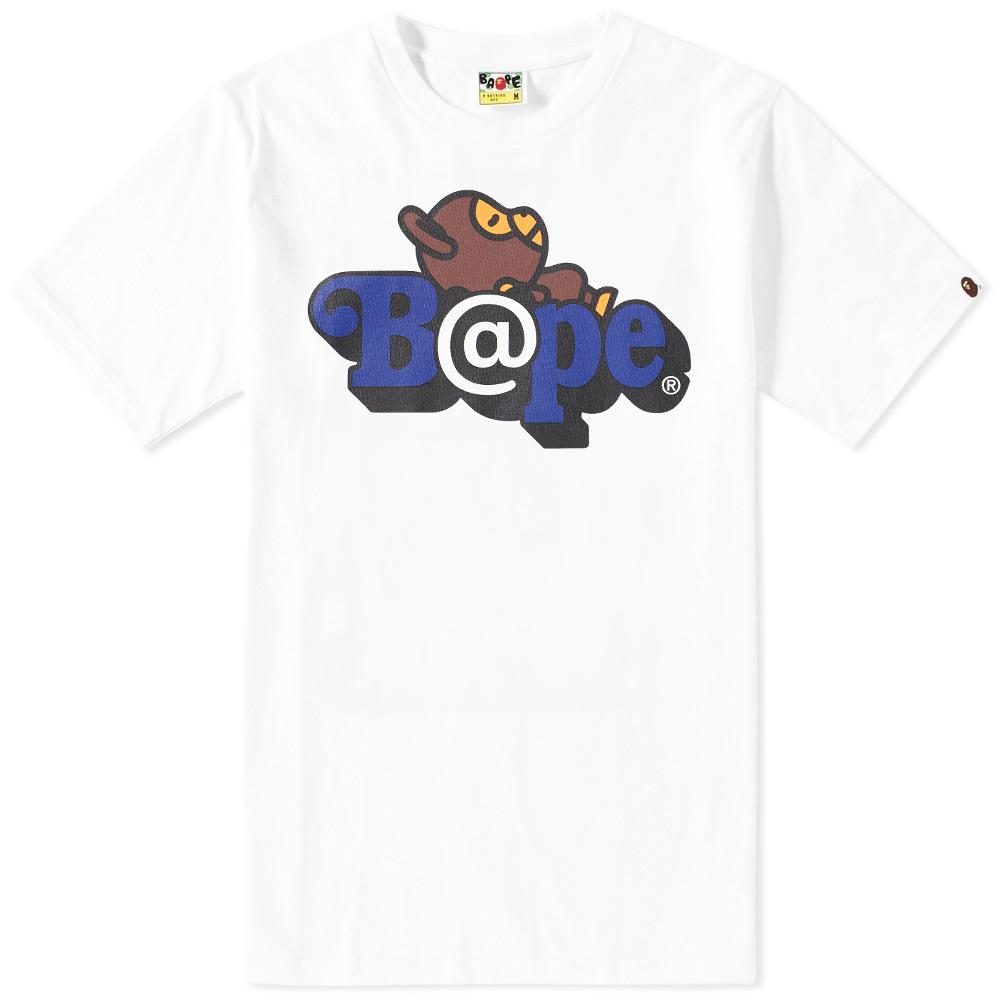 beeac779c A Bathing Ape X Medicom Be@rbrick Milo On Bape Tee in White for Men ...