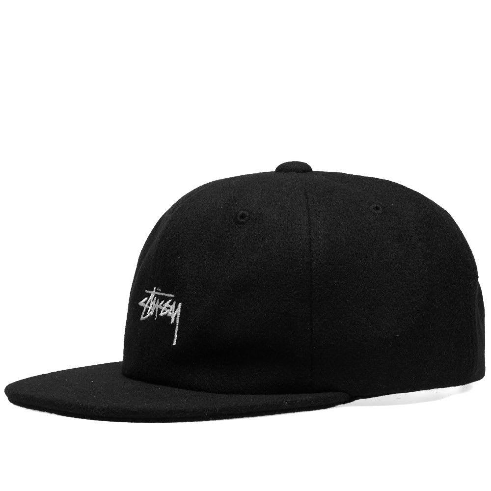 235ad6dda85 Lyst - Stussy Melton Wool Strapback Cap in Black for Men