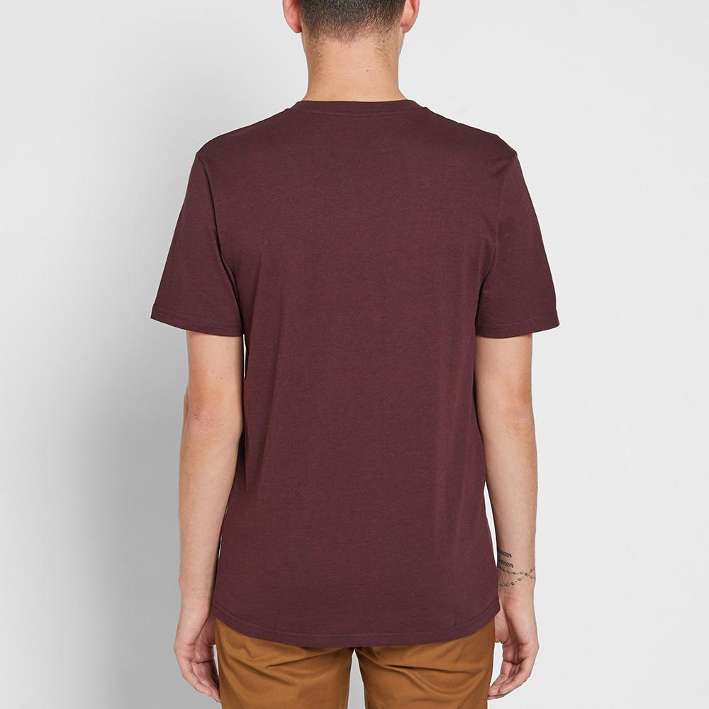 Lyst carhartt wip pocket tee in purple for men for Carhartt burgundy t shirt