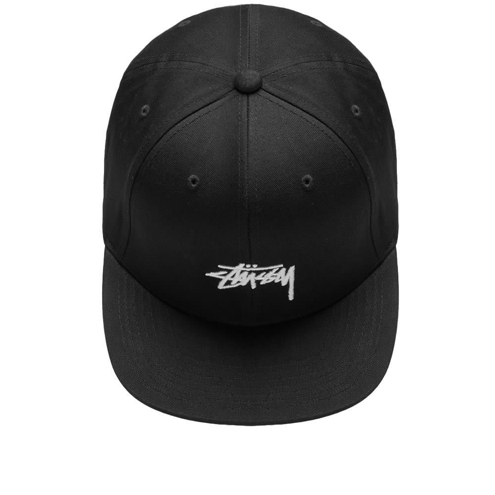 f76b50b65f9 Stussy - Black Stock Logo Cotton Strapback Cap - Lyst. View fullscreen