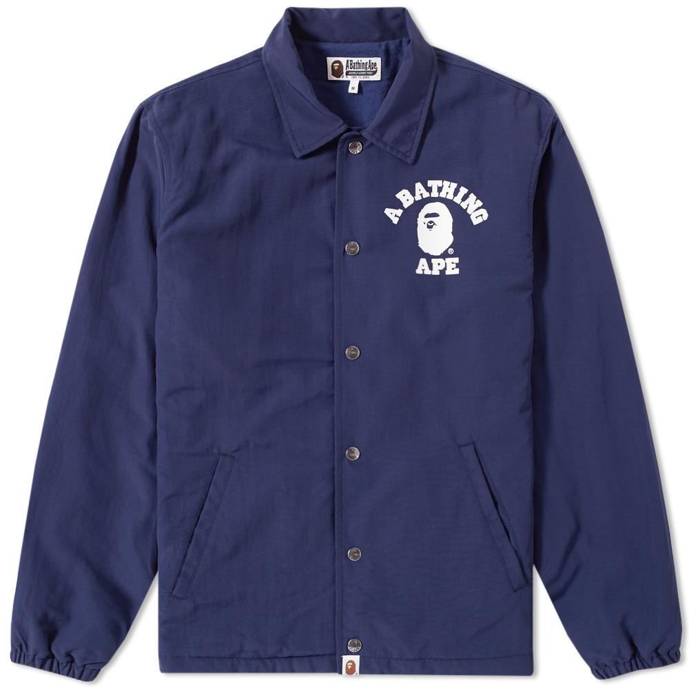 e6d105d629c9 Lyst - A Bathing Ape College Coach Jacket in Blue for Men