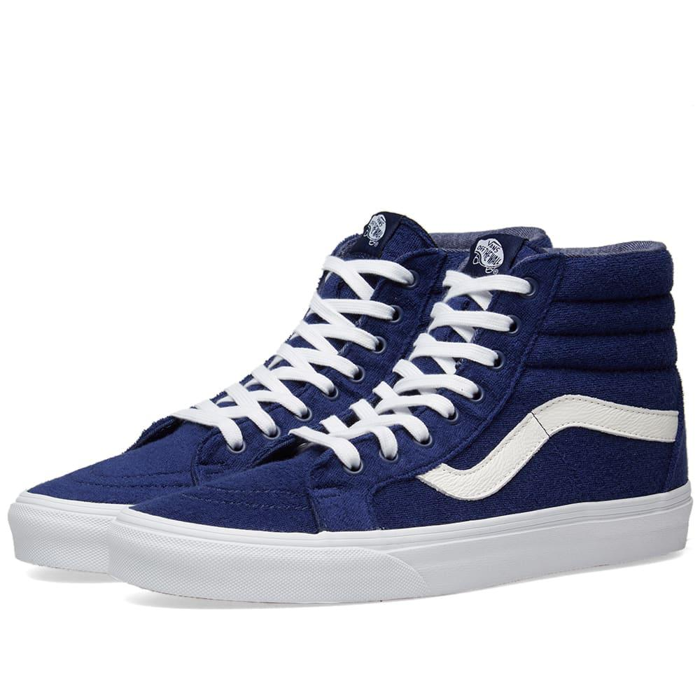 f7e853b5c95d05 Lyst - Vans Sk8-hi Reissue Terry in Blue for Men