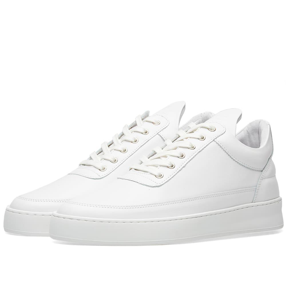 03fcbe1ba Filling Pieces Low Top Plain Lane Nappa Leather Sneaker in White for ...