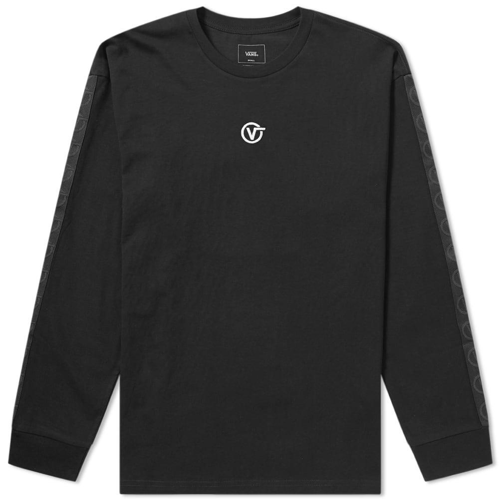 f03715f73e Lyst - Vans Long Sleeve Circle V Tee in Black for Men