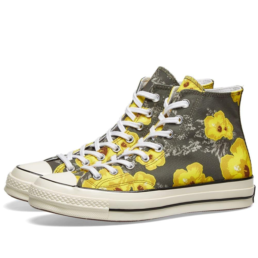 7b9cfbc12560 Lyst - Converse Chuck Taylor 1970s Hi  floral  in Green for Men