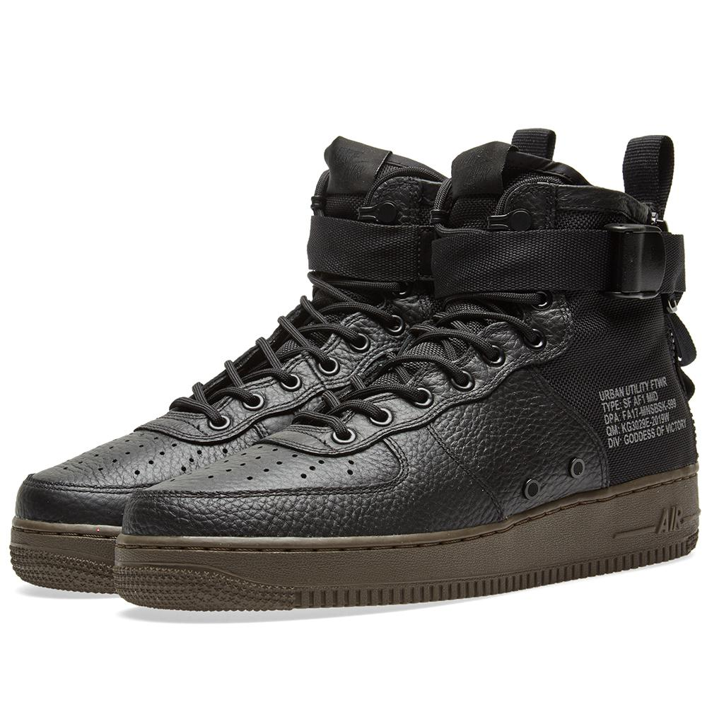 Lyst Nike Sf Air Force 1 Utility Mid in Black for Men
